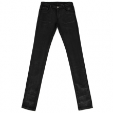 [Flame Flower]Coated Waxing Denim Pants