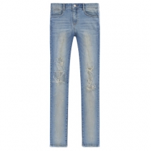 [Flame Flower]Destroyed Denim