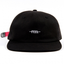 Feel Logo Strapback - Black