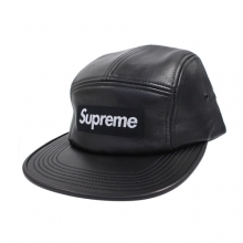 Leather Camp Cap - Black