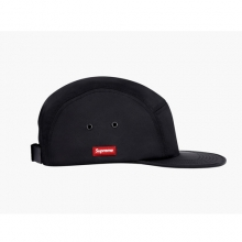 Side Rubber Patch Camp Cap - Black