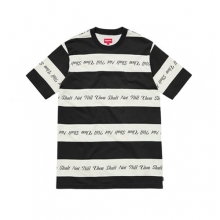 Thou Shall Not Striped Top - Black