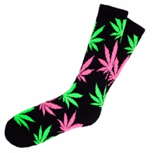 Plantlife Crew Socks - Black/Green/Pink