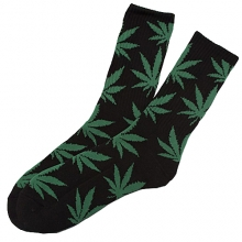 Plantlife Crew Socks - Black/Dark Green