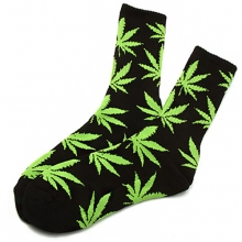 Plantlife Crew Socks - Black/Green