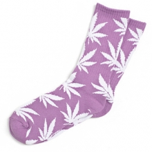 Plantlife Crew Socks - Light Purple/White