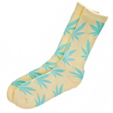 Plantlife Crew Socks - Light Yellow/Sky Blue