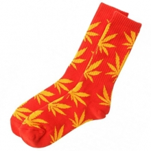 Plantlife Crew Socks - Red/Yellow