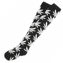 Plantlife Crew Long Socks - Black/White