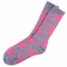 Plantlife Crew Socks - Heather Purple/Pink