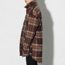 Thick Flannel Shirt - Brown