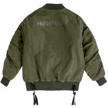 MA-1 Back Print Jacket - Khaki