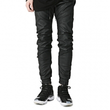[Oeil Noirs]Damaged Twist Jogger Pants - Black