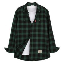 [THEDOSI] (남여공용) Original Check Shirt - Green/Black