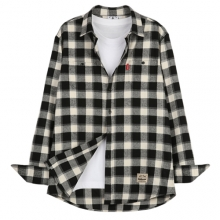 [THEDOSI] (남여공용) Original Check Shirt - Oatmeal/Black