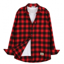 [THEDOSI] (남여공용) Original Check Shirt - Red/Black