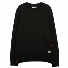 [THEDOSI] (10%세일) (남여공용) Side Vent Crewneck - Black
