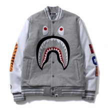 Shark Sweat Varsity Jacket - Grey