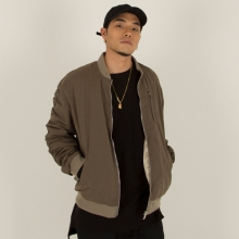[Nameout] Oversized Shirring MA-1 Jacket - Khaki