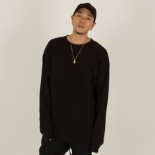 [Nameout] Oversized Long Sleeve Tee - Black