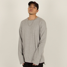 [Nameout] Oversized Long Sleeve Tee - Grey
