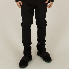[Nameout] Coated Shirring Size Zip Jogger Pants - Black