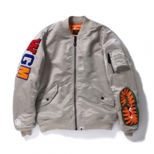 Bape Shark MA-1 Jacket - Grey
