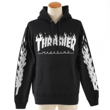 [Thrasher] Pullover Parka Hoodie - Black