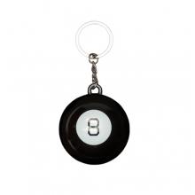 8 Ball Keychain - Black