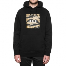 Goldn Camo Strp Box Logo Pullover Hooded - Black