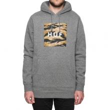 Goldn Camo Strp Box Logo Pullover Hooded - Heather Grey