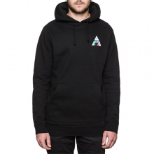 Triangle Prism Pullover Hooded - Black