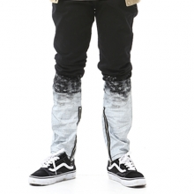 Flame Painted Pants - Black