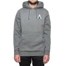 Triangle Prism Pullover Hooded - Grey Heather
