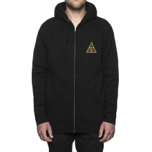 Huf X Obey Icon Face Zip Hooded - Black