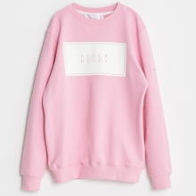 (50%SALE) [Black Hoody] Basic Logo Crewneck Sweatshirts - Pink
