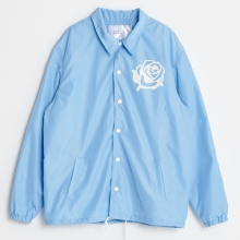 (50%SALE) [Black Hoody] Rose Coach Jacket - Sky Blue