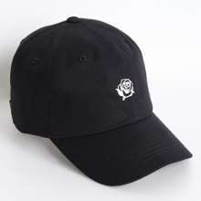 Rose Soft Cap - Black