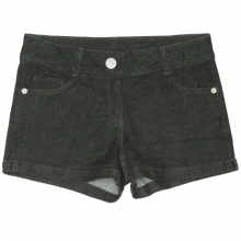 0053 Denim Short Pants - Black