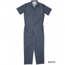 0058 Denim Jump Suit - Blue