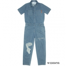 0061 Denim Jump Suit - Blue