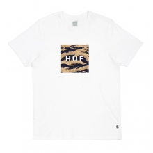 Tiger Camo Box Logo Tee - White