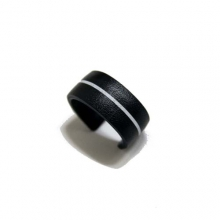 Cowskin Leather Line Ring