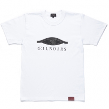 [Oeil Noirs]Damaged Stitched Logo Short Tee - White