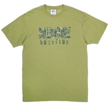Camo Straight Logo Tee - Green