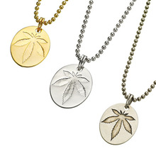 Coin Weed Pendant - 3 Color