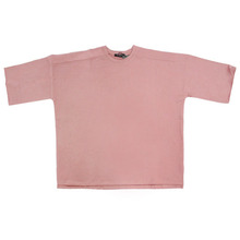 [Nameout] Jersey Knitted Oversized S/S Sweatshirt - Dust Pink