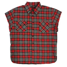 [Nameout] Sleeveless Shirts - Red Flannel