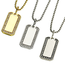 Dog Tag Pendant - 3 Color