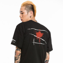 [Oeil Noirs]Damaged Blood Tee - Black